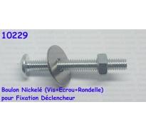 Boulon Nickelé (Vis+Ecrou+Rondelle) pour Fixation Déclencheur