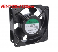 Ventilateur 230Vac, 50/60Hz, 120x120x38mm