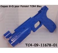 Coques G+D pour Pistolet TCR4 Bleu