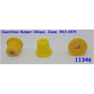 Caoutchouc Bumper Cônique, Jaune, 23-6579