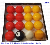 "Bille 8 Pool 2"" (+ Blanche 47,6mm) Standard - Le Jeu"