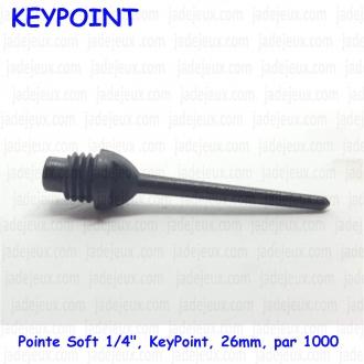 """Pointe Soft 1/4"""", KeyPoint, 26mm,  par 1000"""