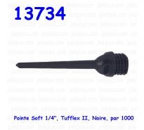 """Pointe Soft 1/4"""", Tufflex II, Noire, par 1000"""