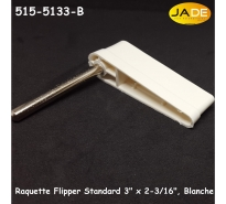 "Raquette Flipper Standard 3"" x 2-3/16"", Blanche"