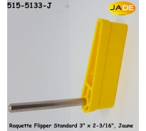 "Raquette Flipper Standard 3"" x 2-3/16"", Jaune"