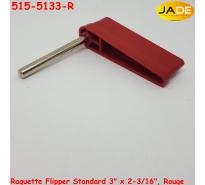 "Raquette Flipper Standard 3"" x 2-3/16"", Rouge"