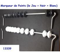 Marqueur de Points (le Jeu : Noir + Blanc)