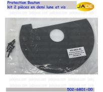 Protection Bouton kit 2 pièces en demi lune et vis