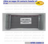 Câble en nappe, 5795-12653-03, 34 contacts femelle x2, 9 cm